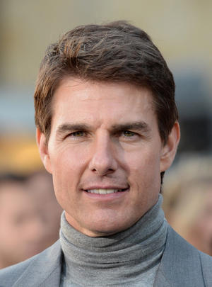 "Tom Cruise at the California premiere of ""Oblivion."""