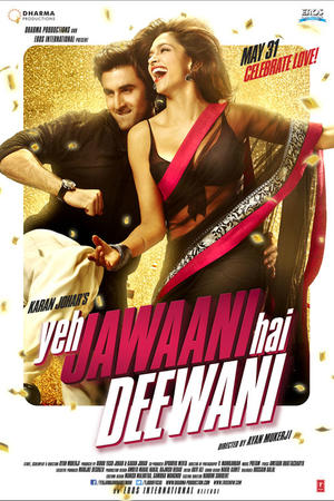 "Poster art for ""Yeh Jawaani Hai Deewani."""