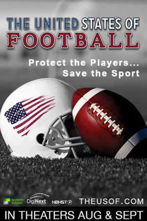 """Poster art for """"The United States of Football."""""""