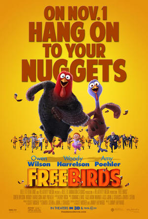 """Poster art for """"Free Birds in 3D."""""""