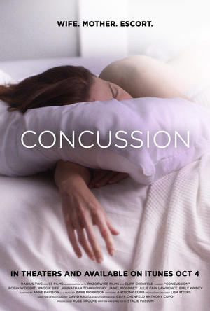 "Poster art for ""Concussion."""
