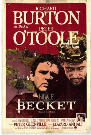 "Poster art for ""Becket."""
