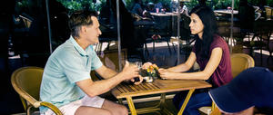 "Bill Pullman and Cherien Dabis in ""May in the Summer."""