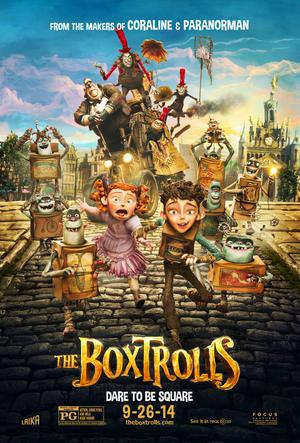 "Poster art for ""The Boxtrolls."""
