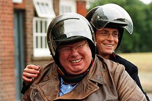 "Richard Griffiths and Stephen Campbell Moore in ""The History Boys."""