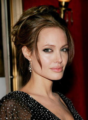 "Actress Angelina Jolie at the N.Y. premiere of ""The Good Shepherd."""