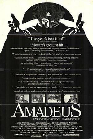 "Poster art for ""Amadeus."""