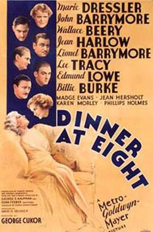 "Poster art for ""Dinner at Eight."""