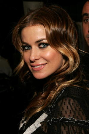 """Epic Movie"" star Carmen Electra at the Michon Schur fashion show in New York City."