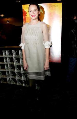 """Actress Jacinda Barrett at the N.Y. premiere of """"The Namesake."""""""