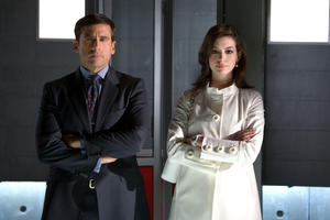 "Steve Carrell and Anne Hathaway in ""Get Smart."""