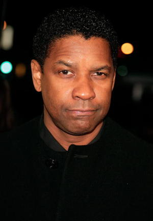 "Actor Denzel Washington at the L.A. premiere of ""The Great Debaters."""