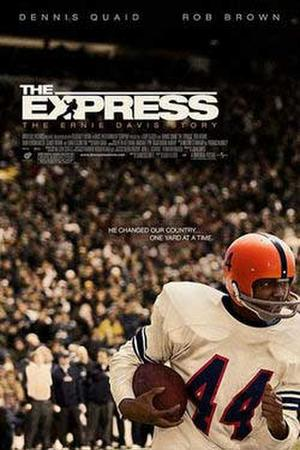 "Poster art for ""The Express."""