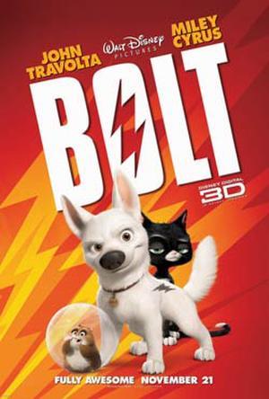 """Poster art for """"Bolt in Disney Digital 3D."""""""
