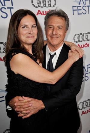 "Lisa Gottsegen and Dustin Hoffman at the premiere of ""Last Chance Harvey."""