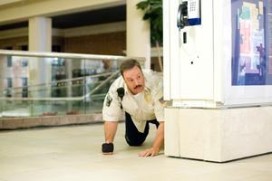 "Kevin James as Paul Blart in ""Paul Blart: Mall Cop."""