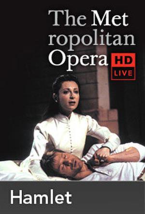"Poster art for ""The Metropolitan Opera: Hamlet Encore."""