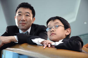 """Hiroshi Watanabe and Justin Kwong in """"White on Rice."""""""