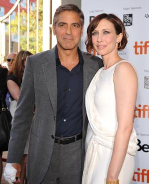"George Clooney and Vera Farmiga at the Toronto premiere of ""Up In The Air."""