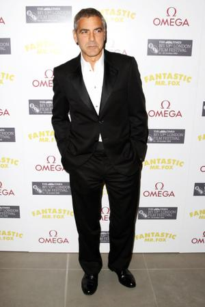 "George Clooney at the after party of the London premiere of ""Fantastic Mr. Fox."""