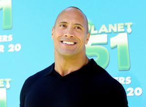 "Dwayne Johnson at the California premiere of ""Planet 51."""