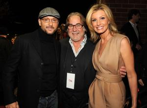 "Tim McGraw, Rod Essig and Faith Hill at the Nashville premiere of ""The Blind Side."""