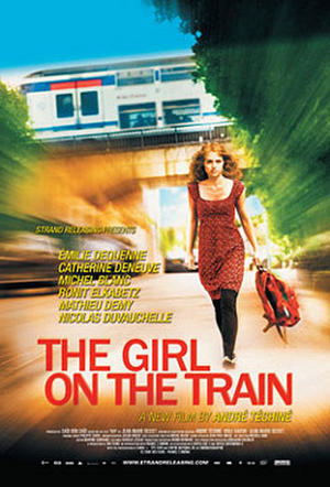 """Poster art for """"The Girl on the Train."""""""
