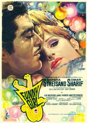 "Poster art for ""Funny Girl."""