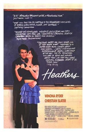 """Poster art for """"Heathers."""""""