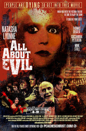 """Poster art for """"All About Evil"""""""