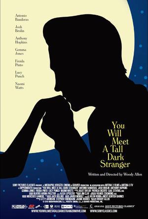 """Poster art for """"You Will Meet a Tall Dark Stranger."""""""