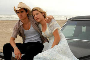 "Max Minghella and Blake Lively in ""Elvis & Anabelle"""