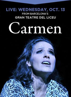 """Poster art for """"Opera in Cinema: Carmen."""""""