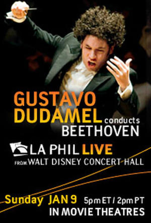 "Poster art for ""LA Phil Live: Dudamel conducts Beethoven."""