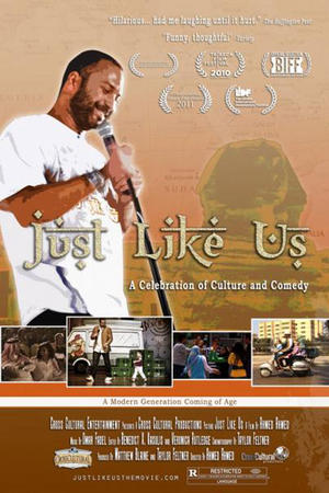 "Poster art for ""Just Like Us."""