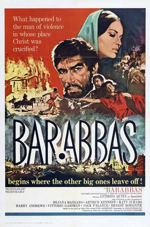 """Poster art for """"Barabbas."""""""