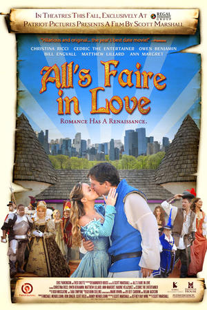"""Poster art for """"All's Faire in Love."""""""