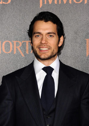 "Henry Cavill at the world premiere of ""Immortals"" in California."