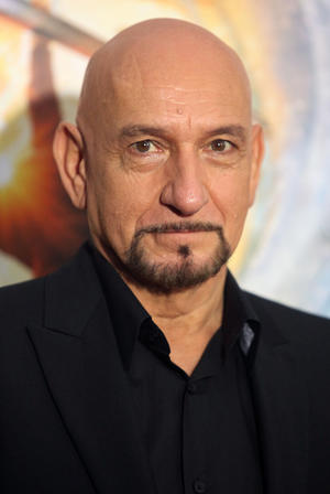 "Ben Kingsley at the New York premiere of ""Hugo."""