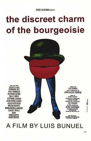 """Poster art for """"The Discreet Charm of the Bourgeoisie."""""""