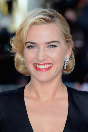 "Kate Winslet at the world premiere of ""Titanic 3D"" in London."