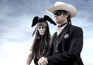 "Johnny Depp and Armie Hammer in ""The Lone Ranger."""