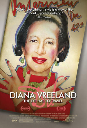 """Poster art for """"Diana Vreeland: The Eye Has to Travel.''"""