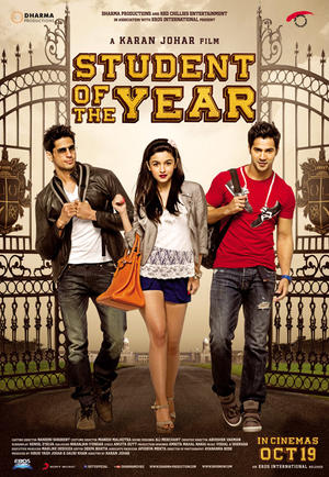 "Poster art for ""Student of the Year."""