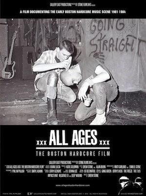 """Poster art for """"All Ages: The Boston Hardcore Film."""""""