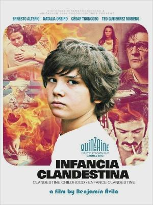 "Poster art for ""Clandestine Childhood."""