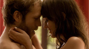 """Mark Webber as Jonathan and Lizzy Caplan as Sarah in """"Save the Date."""""""