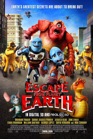 "Poster art for ""Escape from Planet Earth 3D."""