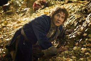 "Martin Freeman as Bilbo Baggins in ""The Hobbit: The Desolation of Smaug 3D."""
