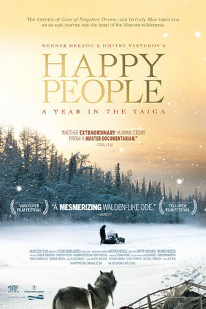 "Poster art for ""Happy People: A Year in the Taiga."""